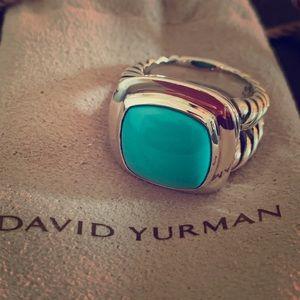 David Yurman Albion Turquoise Ring 14mm